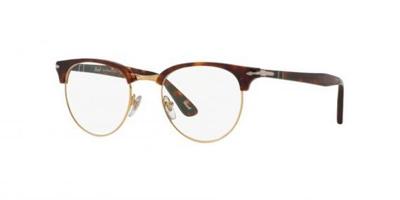 عینک طبی کلاب راند پرسول رنگ قهوه ای هاوانا - عکاسی وحدت - زاویه سه رخ