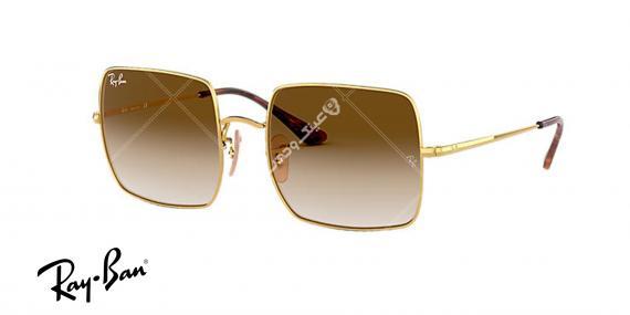 عینک آفتابی ریبن کلاسیک RB1971- فریم طلاییو عدسی قهوه ای طیف دار- اپتیک وحدت - عکس از زاویه سه رخ