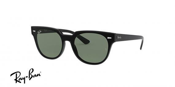 عینک آفتابی ری بن  RB4368N- مشکی با عدسی سبز- اپتیک وحدت - عکس از زاویه سه رخ