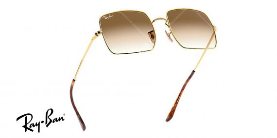 عینک ریبن کلاسیک RB1971-فریم طلاییو عدسی قهوه ای طیف دار-  اپتیک وحدت - عکس از زاویه سه رخ