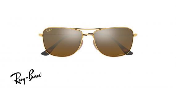 عینک آفتابی ری بن  RB3543- طلایی و عدسی سبز -اپتیک وحدت - عکس از زاویه روبرو