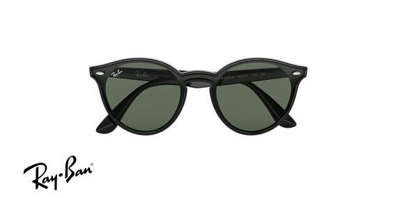 عینک آفتابی ری بن RB4380N -فریم مشکی و عدسی سبز- اپتیک وحدت - عکس از زاویه روبرو