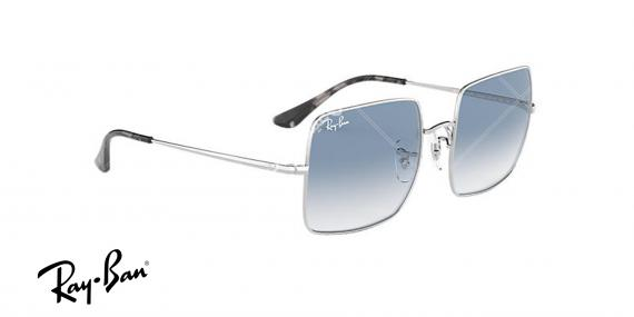 عینک آفتابی ری بنRB1971 -فریم نقره ای و عدسی ابی طیف دار- اپتیک وحدت - عکس از زاویه سه رخ