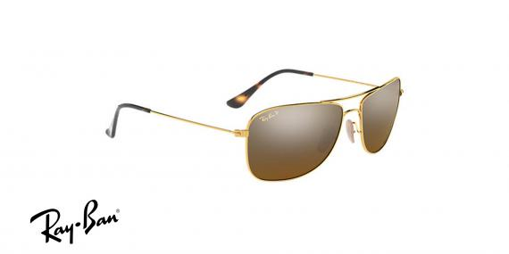 عینک آفتابی ری بن  RB3543- طلایی و عدسی سبز -اپتیک وحدت - عکس از زاویه سه رخ