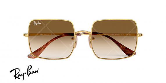 عینک ریبن کلاسیک RB1971-فریم طلاییو عدسی قهوه ای طیف دار-  اپتیک وحدت - عکس از زاویه روبرو