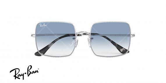 عینک آفتابی ری بن RB1971- فریم نقره ای و عدسی ابی طیف دار-اپتیک وحدت - عکس از زاویه روبرو