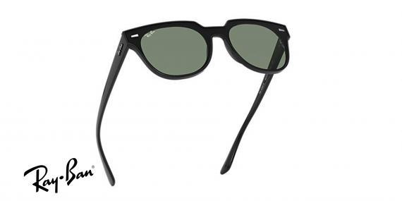 عینک آفتابی ری بن  RB4368N- مشکی با عدسی سبز-اپتیک وحدت - عکس از زاویه سه رخ