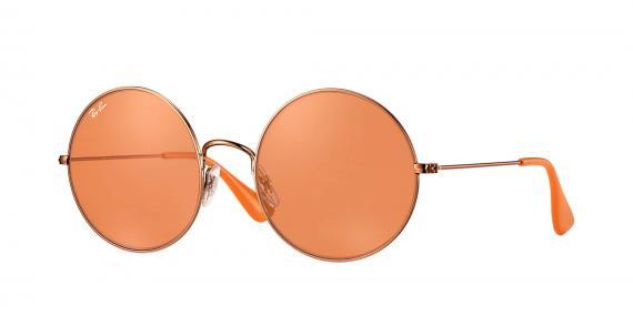 عینک آفتابی ری بن مدل جاجو رنگ شیشه نارنجی زاویه سه رخ