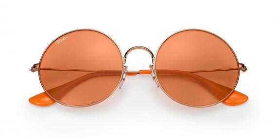 عینک آفتابی ری بن مدل جاجو رنگ شیشه نارنجی زاویه رو به رو