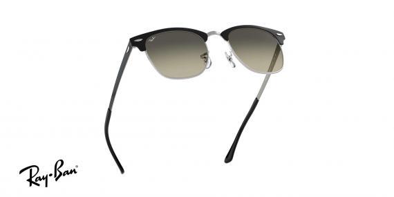 عینک آفتابی ریبن - کلاب مستر تمام فلزی - بدنه مشکی نقره ای - عدسی خاکستری طیف دار