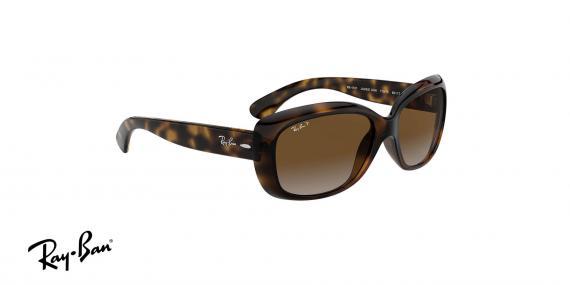 عینک آفتابی کائوچویی زنانه ری بن - مدل Jackie Ohh - رنگ قهوه ای هاوانا - عدسی قهوه ای طیف دار پولاریزه زاویه سه رخ