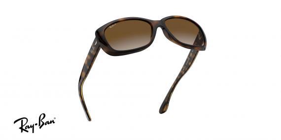 عینک آفتابی کائوچویی زنانه ری بن - مدل Jackie Ohh - رنگ قهوه ای هاوانا - عدسی قهوه ای طیف دار پولاریزه