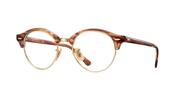 عینک طبی کلاب راند ray ban - قهوه ای روشن هاوانا - زاویه سه رخ