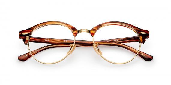 عینک طبی کلاب راند ray ban - قهوه ای روشن هاوانا - زاویه روبرو