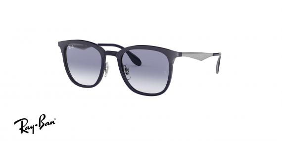عینک آفتابی کلاب مستر فلزی ریبن - بدنه نقره ای - عدسی آبی طیف دار - زاویه سه رخ