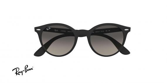 عینک آفتابی گرد Ray ban - بدنه liteforce - رنگ مشکی - عدسی خاکستری طیف دار - عکاسی وحدت - زاویه روبرو