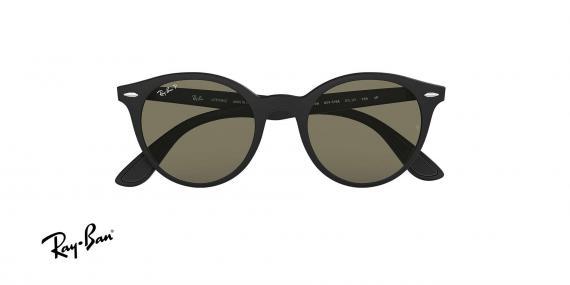 عینک آفتابی ریبن - گرد Forcelite - بدنه مشکی مات - عدسی سبز کلاسیک G15 - زاویه روبرو