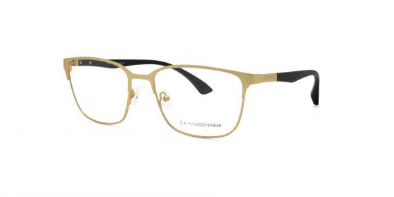 عینک طبی زینیا مربعی شکل طلایی رنگ - زاویه سه رخ