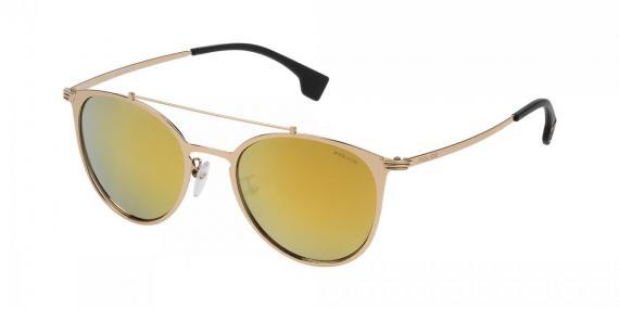 عینک آفتابی پلیس ریوال 9 - بدنه طلایی - زاویه سه رخ