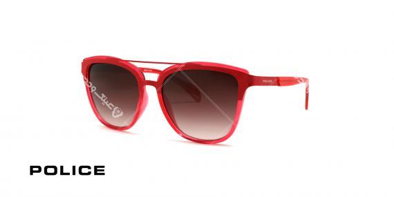 عینک آفتابی پلیس مدل wonder 1 - رنگ قرمز - عکاسی وحدت - زاویه سه رخ