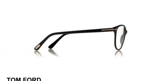 عینک طبی تام فورد - مدل گربه ای - کائوچویی مشکی رنگ - زاویه کنار