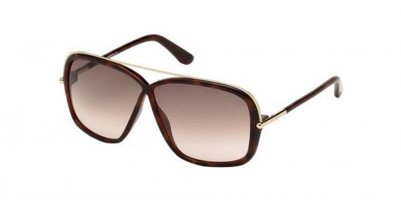 عینک آفتابی تام فورد مدل مدل پروانه ای - رنگ قهوه ای هاوانا