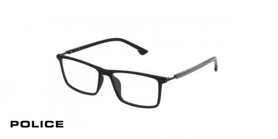 عینک طبی پلیس - POLICE VPL559 - رنگ فریم مشکی  - اپتیک وحدت - عکس زاویه سه رخ