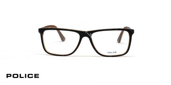 عینک طبی اصل پلیس - مدل بلاک 4 - قهوه ای - عکاسی وحدت - زاویه رو به رو