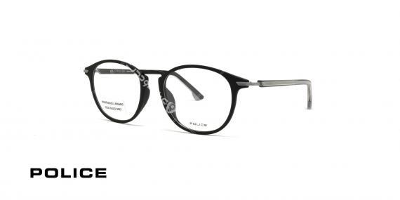 عینک طبی کائوچویی پلیس - رنگ بدنه نوک مدادی - عکاسی وحدت - زاویه سه رخ