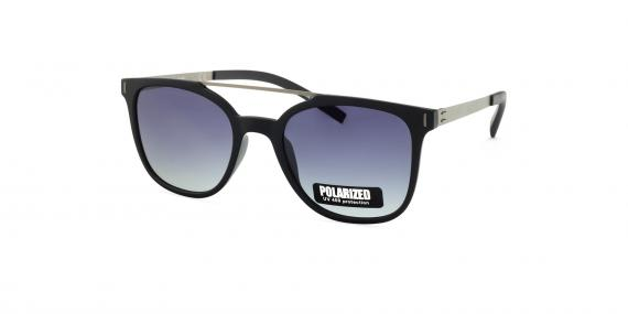 عینک آفتابی مربعی زینیا با بدنه فلزی کائوچویی و رنگ نقره ای سرمه ای - عکاسی توسط عینک وحدت - زاویه ی راست به چپ