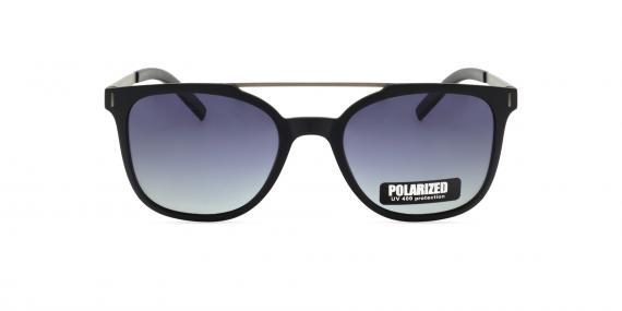 عینک آفتابی مربعی زینیا با بدنه فلزی کائوچویی و رنگ نقره ای سرمه ای - عکاسی توسط عینک وحدت - زاویه ی روبه رو