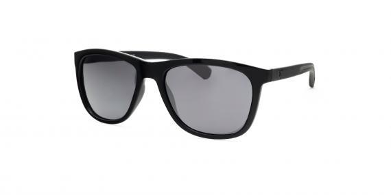 عینک آفتابی مستطیلی زینیا خاکستری با بدنه مشکی - عکاسی توسط عینک وحدت - زاویه ی رو به رو