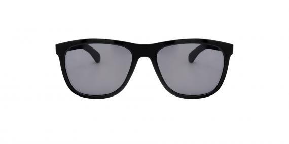عینک آفتابی مستطیلی زینیا خاکستری با بدنه مشکی - عکاسی توسط عینک وحدت - زاویه ی راست به چپ