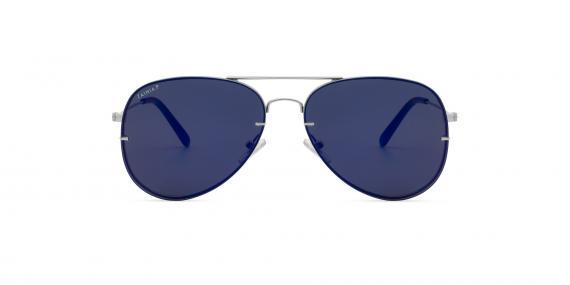 عینک آفتابی خلبانی زینیا سرمه ای با بدنه نقره ای - عکاسی توسط عینک وحدت - زاویه ی روبه رو