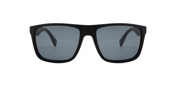 عینک آفتابی زینیا - بیس دار کائوچوی سبک مشکی با عدسی های دودی - عکاسی وحدت - زاویه روبرو