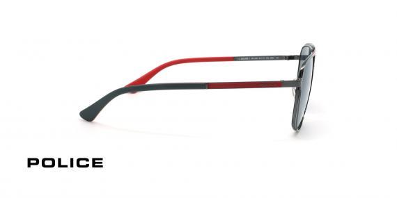 عینک آفتابی خلبانی پلیس - POLICE Record 3 SPL A58 - رنگ طوسی - عکاسی وحدت - عکس زاویه کنار