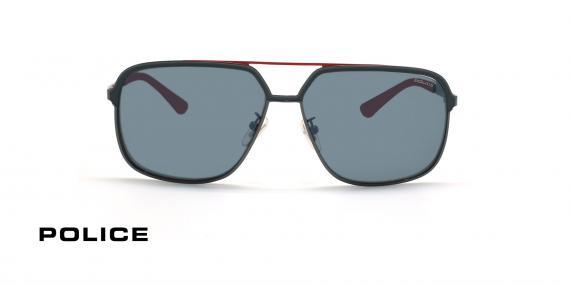 عینک آفتابی خلبانی پلیس - POLICE Record 3 SPL A58 - رنگ طوسی- عکاسی وحدت - عکس زاویه روبرو