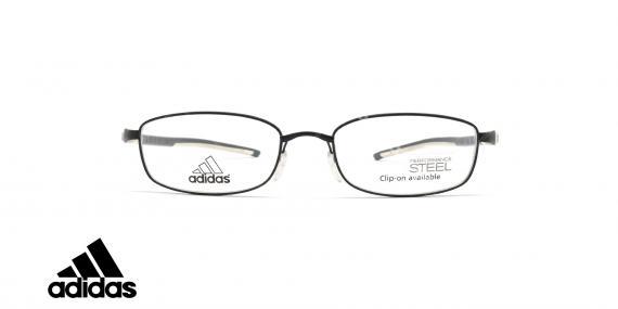 عینک طبی ادیداس - فلزی - فریم مشکی و سفید - عکاسی وحدت - زاویه رو به رو