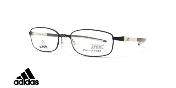 عینک طبی ادیداس - فلزی - فریم مشکی و سفید - عکاسی وحدت - زاویه سه رخ