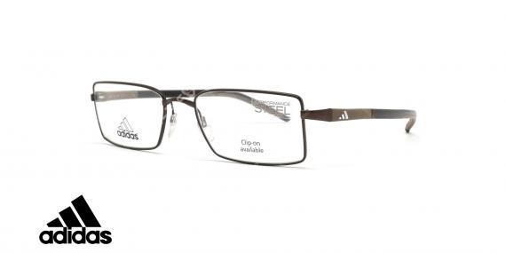عینک طبی آدیداس - فلزی - فریم قهوه ای - زاویه سه رخ