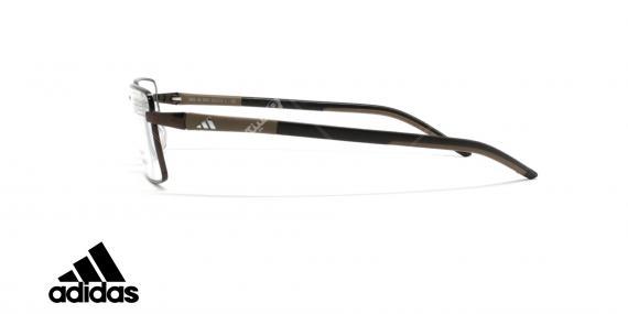 عینک طبی آدیداس - فلزی - فریم قهوه ای - زاویه کنار