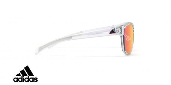 عینک آفتابی ورزشی آدیداس مدل Wildcharge - رنگ شیشه ای براق با عدسی های صورتی جیوه ای - عکاسی وحدت - زاویه کنار
