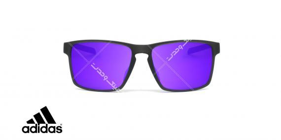 عینک آفتابی ورزشی آدیداس مدل 3MATIC - رنگ مشکی مات - عکاسی وحدت - زاویه رو به رو
