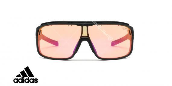 عینک آفتابی ورزشی آدیداس مدل zonyk pro - رنگ صورتی مات با عدسی های صورتی جیوه ای - عکاسی وحدت - زاویه رو به رو