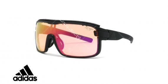 عینک آفتابی ورزشی آدیداس مدل zonyk pro - رنگ صورتی مات با عدسی های صورتی جیوه ای - عکاسی وحدت - زاویه سه رخ