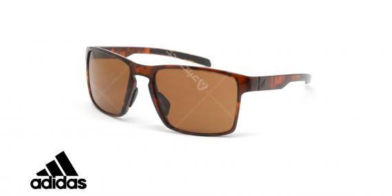 عینک آفتابی ورزشی آدیداس مدل Wayfinder - رنگ بدنه قهوه ای هاوانا - رنگ عدسی قهوه ای - عکاسی وحدت - زاویه سه رخ