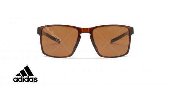 عینک آفتابی ورزشی آدیداس مدل Wayfinder - رنگ بدنه قهوه ای هاوانا - رنگ عدسی قهوه ای - عکاسی وحدت - زاویه روبرو