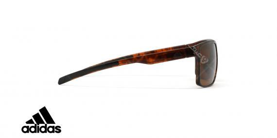 عینک آفتابی ورزشی آدیداس مدل Wayfinder - رنگ بدنه قهوه ای هاوانا - رنگ عدسی قهوه ای - عکاسی وحدت - زاویه کنار