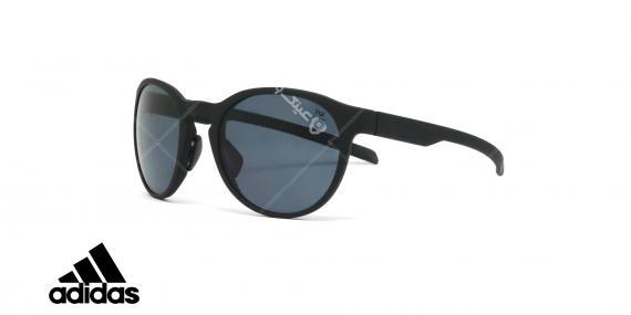عینک آفتابی آدیداس - مدل Proshift - رنگ بدنه مشکی مات - عدسی خاکستری پولاریزه - عکاسی وحدت - زاویه سه رخ