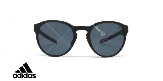 عینک آفتابی آدیداس - مدل Proshift - رنگ بدنه مشکی مات - عدسی خاکستری پولاریزه - عکاسی وحدت - زاویه روبرو